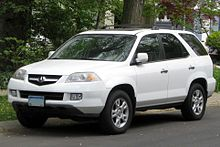 Facelifted Acura Mdx