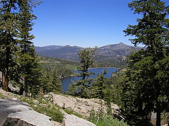 Carson Pass - The Carson Pass (foreground) overlooks Red Lake to the east.