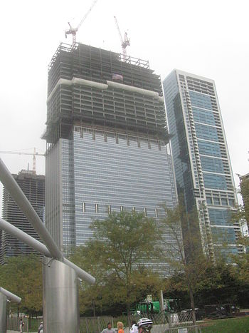English: Blue Cross Blue Shield Tower under co...