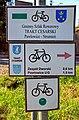 2012 Powiat pszczyński, Pawłowice, Znaki szlaków rowerowych (02).jpg