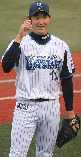 20140505 Yuta Kakita pitcher of the Yokohama DeNA BayStars,at Yokosuka Stadium.JPG