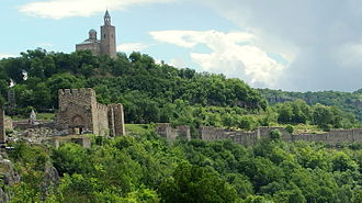 Bulgaria - The walls of Tsarevets fortress in Veliko Tarnovo, the capital of the second empire