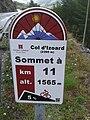 2014 Mountain pass cycling milestone - Col d'Izoard Briancon.jpg
