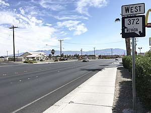 Nevada State Route 372 - View from the east end of SR 372 looking westbound