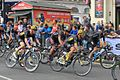 2015 Tour of Britain stage 8 - lap 02 Wout Poels, Graham Briggs, Ed Clancy and Linus Guldhammer.JPG
