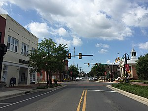 Woodstock, Virginia - Main Street in Woodstock