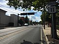 2016-08-23 16 35 43 View south along U.S. Route 11 (Gerard Street) at U.S. Route 17, U.S. Route 50 and U.S. Route 522 (Cameron Street) in Winchester, Virginia.jpg