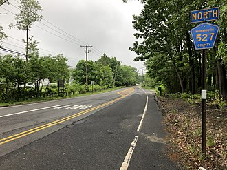 County Route 527 (New Jersey) - CR 527 northbound past CR 1 and CR 527A in Manalapan Township