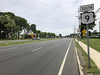 Marlboro Township, New Jersey - US 9, the largest and busiest road in Marlboro