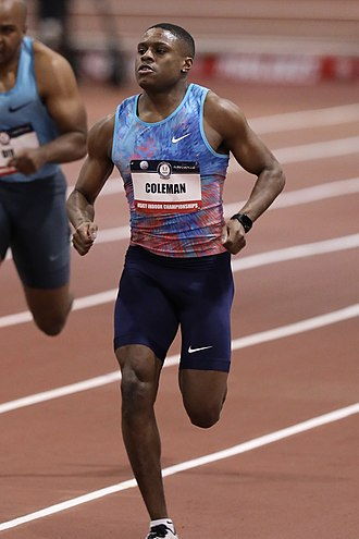 Christian Coleman - Coleman at the 2018 USA Indoor Track and Field Championships