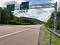 2019-05-17 14 04 59 View west along Interstate 68 and U.S. Route 40 (National Freeway) at Exit 39 (U.S. Route 40 Alternate, La Vale) in La Vale, Allegany County, Maryland.jpg