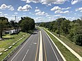 2019-08-25 11 35 41 View south along U.S. Route 1 (Southwestern Boulevard) from the overpass for Interstate 695 (Baltimore Beltway) in Arbutus, Baltimore County, Maryland.jpg