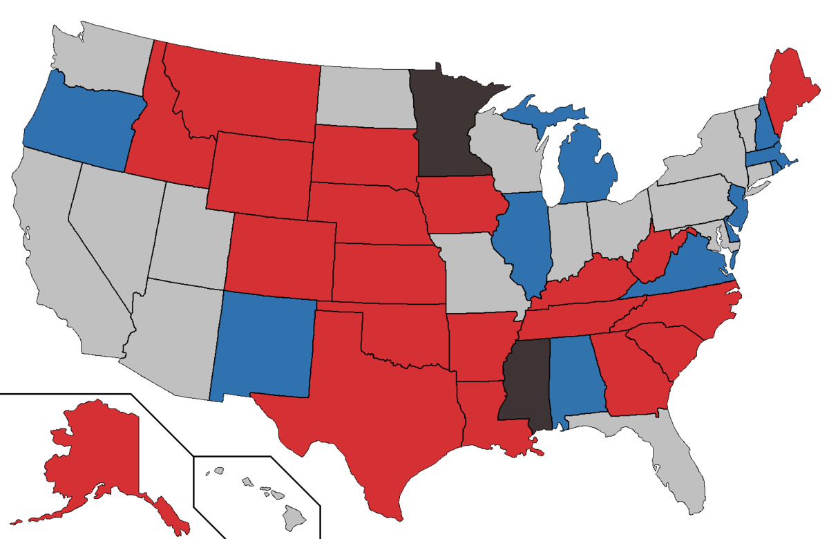 United States Senate Elections 2020 Wikipedia - Us Map Of Election
