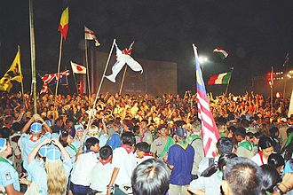 Jamboree - Closing ceremony of the 20th World Scout Jamboree, held in Thailand in 2002/2003