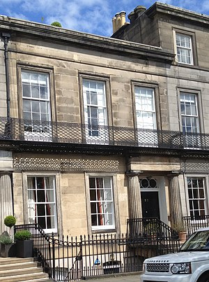 George Harvey (painter) - Harvey's home at 21 Regent Terrace, Edinburgh