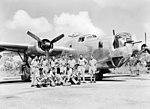 21 Squadron RAAF Liberator aircrew Fenton NT Mar 1945 AWM NWA0732.jpg