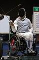 221000 - Wheelchair Fencing Michael Alston action - 3b - Sydney 2000 match photo.jpg