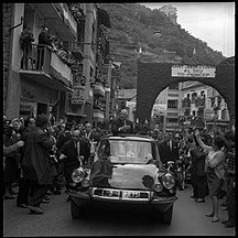 Andorra-20th and 21th century: Modernization of the country and the Constitutional Andorra-23-24.10.67. De Gaulle en Andorre (1967) - 53Fi5569