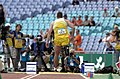 231000 - Athletics field pentathlon Wayne Bell long jump action 3 - 3b - 2000 Sydney event photo.jpg