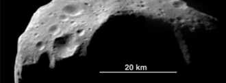 253 Mathilde - Damodar, a 20 km-wide crater on Mathilde