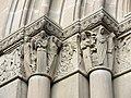 33 Sant Esteve de Parets del Vallès, capitells del portal.JPG