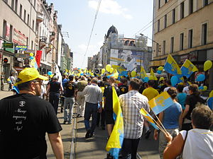 Separatism - Silesians demonstrating in Katowice (in Silesia).