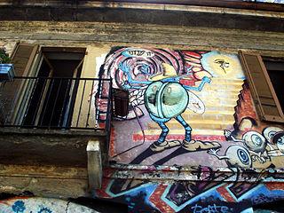 4055 - Milano - Graffiti su casa occupata alla Darsena - Foto Giovanni Dall'Orto, 7-July-2007.jpg