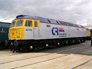 Cotswold Rail - 47316 Cam Peak at Doncaster Works in July 2003