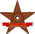 5M article barnstar.png