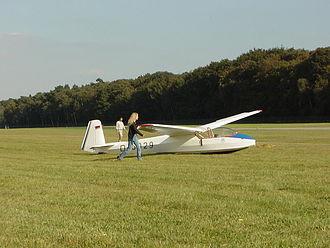Schleicher K7 - K7 after landing
