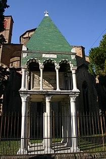 6140 - Bologna - San Francesco - Alberto di Guidobono e Albertino d'Enrico, Arca di Odofredo (+1265) - Foto Giovanni Dall'Orto, 9-Feb-2008.jpg