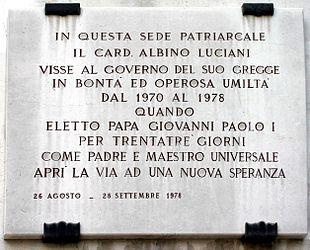 Papa Giovanni Paolo I Wikipedia
