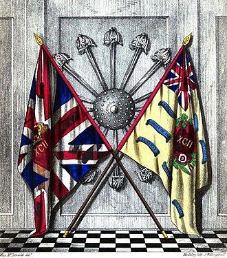 92nd (Gordon Highlanders) Regiment of Foot - Colours of the 92nd (Gordon Highlanders) Regiment of Foot