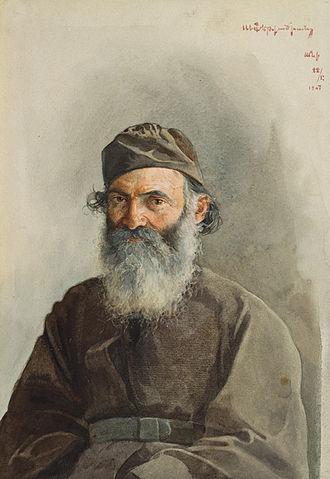 National Gallery of Armenia - Mikayel vardapet by Arshak Fetvadjian (1907)