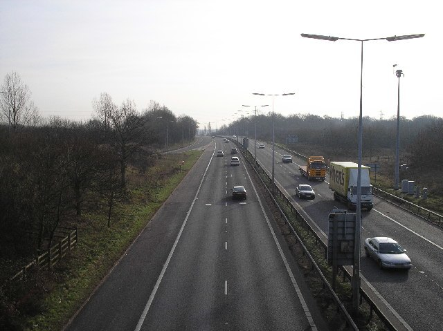A1(M), Hatfield, South of junction 2. - geograph.org.uk - 111467