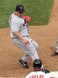 Bartolo Colon playing for the Red Sox
