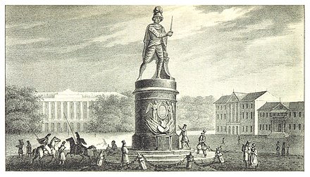 An 1836 depiction of the monument ACHENBACH(1836) p049 COLLOSSALDENKMAL FUR SUWOROW.jpg