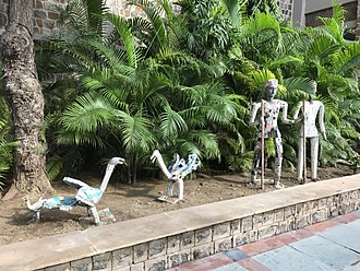 Nek Chand - Nek Chand sculptures at the AES campus in New Delhi.