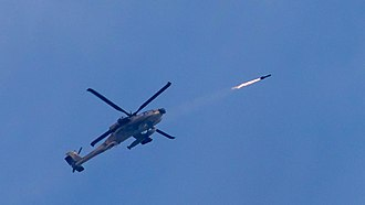 Targeted killings by Israel Defense Forces - The AH-64 Apache helicopter gunship launch AGM-114 Hellfire missile at terror cell of rocket launchers in action