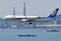 ANA Boeing 767-300ER; JA611A@HKG;04.08.2011 615mh (6207887846).jpg