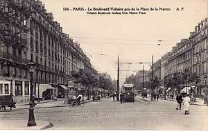 Boulevard Voltaire - Boulevard Voltaire in the 1920s