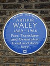 ARTHUR WALEY 1889-1966 Poet Translator and Orientalist lived and died here.jpg