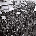 A PROTEST MARCH IN TEL AVIV, AGAINST THE BRITISH LAND SALE ACT. הפגנת מחאה בתל אביב, נגד חוק גזירת הקרקע הבריטי.D817-062.jpg