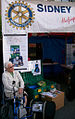A ShelterBox at Sidney Market fundraising by Rotary International.jpg