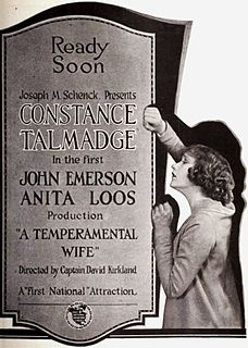 <i>A Temperamental Wife</i> 1919 American film directed by David Kirkland