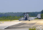 A U.S. Air Force CV-22 Osprey tiltrotor aircraft prepares to take off from Hurlburt Field, Fla., Oct. 3, 2013 131003-F-RS318-113.jpg