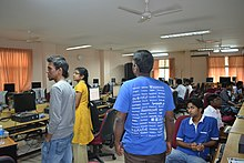 A Wikimedia India Workshop session in progress at Tathva Annual Event of 2011.jpg