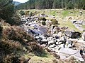 A congested watercourse - boulders on the bed of the Glen River - geograph.org.uk - 1983891.jpg