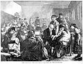 A dispensary in the East End of London; crowds of local Wellcome L0000110.jpg