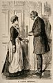 A doctor asking a maid how his patient is, she replies that Wellcome V0011427.jpg